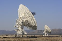 Giant Radio Telescopes Stock Images