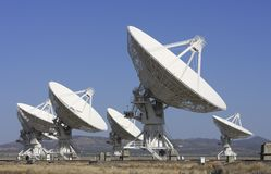 Giant Radio Telescopes Stock Photo
