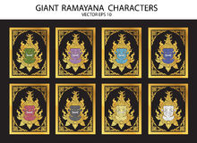 Giant Ramayana characters Royalty Free Stock Photography
