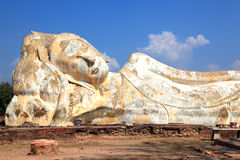 Giant reclining buddha statue Stock Photos