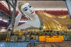 Giant reclining Buddha in Yangon Royalty Free Stock Photo