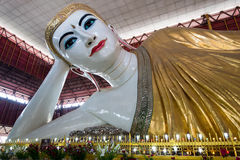 Giant reclining Buddha in Yangon Royalty Free Stock Images