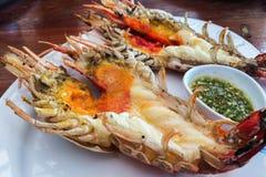Giant river prawn malaysian shrimp grilled royalty free for Aqua malaysian thai cuisine