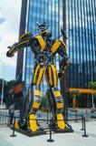 Giant robot exhibition Stock Photo