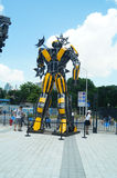 Giant robot exhibition Royalty Free Stock Images