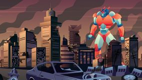 Free Giant Robot In City Royalty Free Stock Images - 160911989