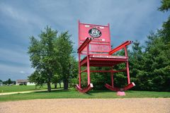 The giant Rocking Chair of the Fanning outpost Royalty Free Stock Images
