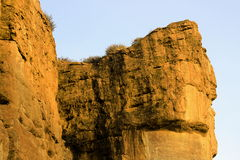 Giant Rocky Walls, Badami Royalty Free Stock Photo