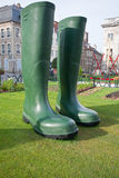 Giant rubber boots Royalty Free Stock Photo