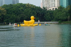 Giant rubber duck Royalty Free Stock Photo