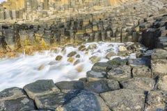 Giant`s basalt causeway Stock Photography