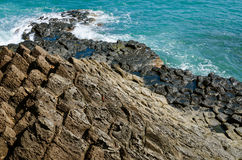 Giant's basalt Causeway, Phu Yen province, Vietnam Royalty Free Stock Photos
