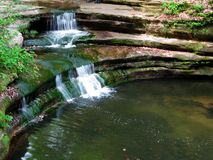 Giant's Bathtub. Waterfall in Matthiessen State Park in Illinois Royalty Free Stock Photo