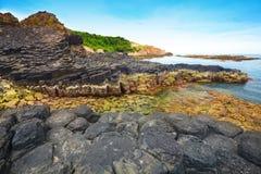 Giant's Causeway. Giant's basalt Causeway. Phu Yen province. Vietnam Stock Images
