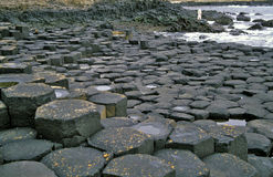 Giant's Causeway. The world famous Giant's Causeway in Northern Ireland is one of the country's most visited landmarks Stock Image