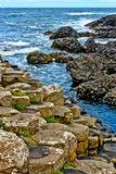 Giant's Causeway. A view of the unique rock formations at the Giant's Causeway on the Antrim Coast of Northern Ireland Royalty Free Stock Image