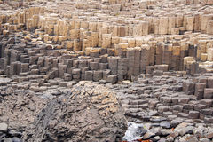 Giant's Causeway. Rock formation in County Antrim, Northern Ireland royalty free stock images