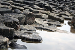Giant's Causeway. Rock formation in County Antrim, Northern Ireland stock images