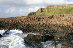 Giant's Causeway. Detail of the Giant's Causeway, County Antrim, Northern Ireland stock images