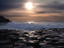 Giant's Causeway. Northern Ireland Coastline Royalty Free Stock Photo