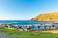 Giant s Causeway. The Giant`s Causeway is an area of approximately 38000 columns, the result of acient volcanic activity 60 million years ago. It was declared a royalty free stock photo