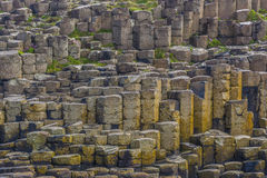 Giant's Causeway. Background photo of the geological columns at Giant's Causeway on the coast of Northern Ireland stock image