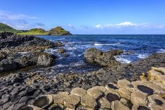Giant`s Causeway on a beautiful summer day, County Antrim, Northern Ireland stock images