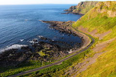 Giant's Causeway cliffs and seascape Stock Images