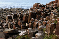 Giant's Causeway. A closeup of the rock columns at Giant's Causeway in Northern Ireland Stock Photography