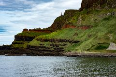 The Giant`s Causeway in County Antrim, Northern Ireland. View of The Giant`s Causeway in County Antrim, Northern Ireland royalty free stock photos