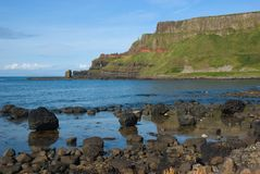 Giant's Causeway headland. Distinctive headland at the Giant's Causeway, County Antrim, Northern Ireland Royalty Free Stock Photo