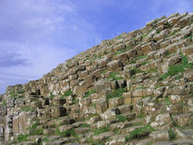 Giant's Causeway, Ireland. An angled view of the basalt columns of the Giant's Causeway, Ireland Stock Photography