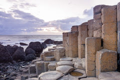 Giant s Causeway. Landscape at The Giant s Causeway in North Antrim, Northern Ireland stock image