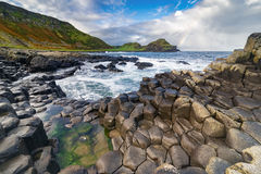 The Giant`s Causeway in the morning. The Giant`s Causeway in the morning, Northern Ireland stock photos