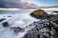 The Giant`s Causeway in the morning. The Giant`s Causeway in the morning, Northern Ireland stock images