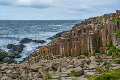 Giant`s Causeway, County Antrim, Northern Ireland. Giant`s Causeway Northern Ireland royalty free stock images