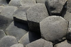 Giant`s causeway. Northern Ireland famous tourist site Stock Image
