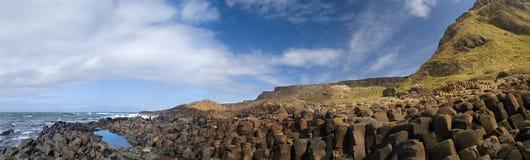 Giant's Causeway Panorama Stock Image