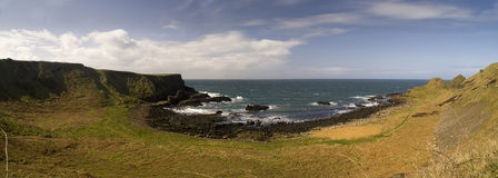 Giant's Causeway Panorama Royalty Free Stock Image