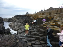 Giant's Causeway. A popular tourist destination in Northern Ireland stock photography