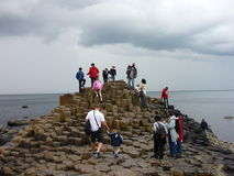Giant's Causeway. A popular tourist destination in Northern Ireland royalty free stock image