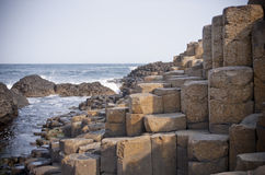 The Giant's Causeway & sea Royalty Free Stock Images