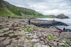 Giant's Causeway volcanic formations Stock Photo