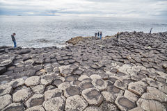Giant's Causeway volcanic formations Stock Photography