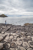 Giant's Causeway volcanic formations Stock Image