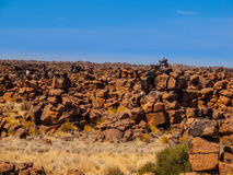 Giant's Playground rock formations near namibian Stock Photography