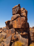 Giant's Playground rock formations near namibian Stock Image