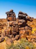 Giant`s Playground rock formations near namibian Keetmanshoop Royalty Free Stock Photo