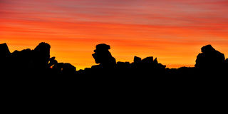 Giant's Playground at Sunset, Keetmanshoop, Namibia, Africa Royalty Free Stock Images