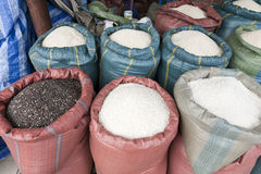 Giant Sacks of Rice Royalty Free Stock Photo